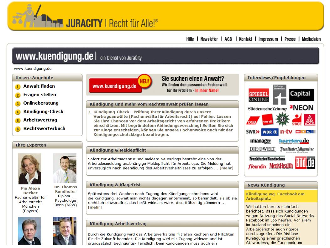 Kuendigung.de u.a. wieder online