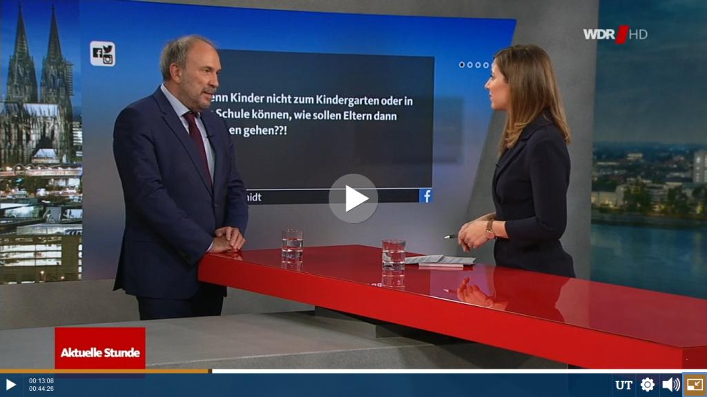 Rechtsanwalt Felser als Studiogast zu Coronavirus und Arbeitsrecht in der Aktuellen Stunde (WDR). Sichere Beratung bei Pandemie